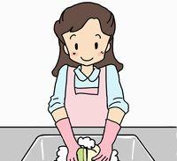 台所の片付け