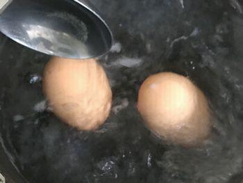 半熟卵を作成
