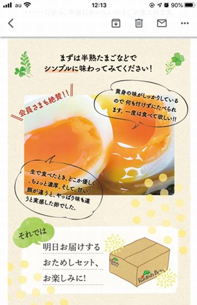 半熟卵の説明
